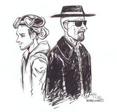 """After a riveting final season I had to try out some Breaking Bad fanart as my first entry in the Inktober Challenge. """"Inktober"""" is a challenge to ink on. Bad Fan Art, Bad Art, Art Breaking Bad, Inktober, Bad Drawings, Chalk Art, Back To Black, Art Sketches, Pencil Art"""