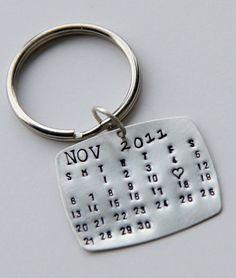 Verkauf Sterling Kalender Keychain Geschenk Von Whiteliliedesigns