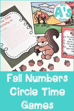 These circle time games are packed full of numbers and counting skills! The ideas and activities in this resource will keep your preschool and kindergarten kiddos engaged and learning throughout your fall theme! All three printable games are ready to print, cut, and use! #preschool #kindergarten #circletime #falltheme #countingactivities #numbersactivities Number Activities, Counting Activities, Circle Time Games, Teaching Numbers, Adding And Subtracting, Preschool Kindergarten, Autumn Theme, Math Centers, Pre School