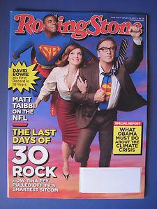 ROLLING STONE Feature 30 ROCK Kendrick Lamar DAVID BOWIE James Brown 1/31/13 NEW #rollingstone #rollingstonemagazine #magazine