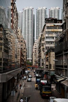 New & Old Buildings in Kowloon_ Hong Kong