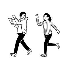 Outline Illustration, Simple Illustration, Black And White Illustration, Character Illustration, Human Sketch, Art Story, Cartoon Art Styles, Illustrations And Posters, Art Sketchbook