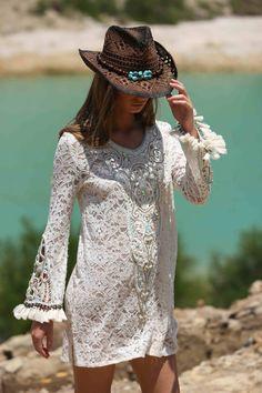 Dress Hippie boho bohemian gypsy style Miss June Paris