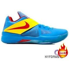 b538ba694b9f Hot 2015 Nike KD 4 Three 4 Five Bright Pink Blue Neon Yellow ...