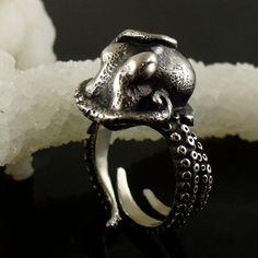 VALENTINES DAY SALE Kraken Octopus Ring OctopusMe Miyu Decay collaboration - Stephanie Inagaki