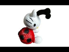 Tutorial Hello Kitty Mariquita Amigurumi Ladybug 3 de 3 (english subtitles) - YouTube