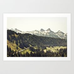 Epic Drive through the Mountains Art Print by Kurt Rahn