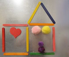 Magnet board, and magnetized popsicle sticks for a cool way for kids to use their imaginations n so much more materials.