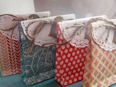 Favor Bags Set of 8 Handmade Favor Bags for Weddings, Showers, Birthday Parties