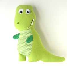 Looking for your next project? You're going to love Tony or Tracy TREX Dinosaur Softie by designer myfunnybuddy. - via @Craftsy