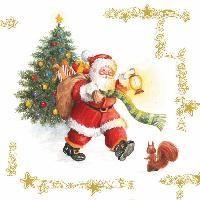 2290 Servilleta decorada Navidad