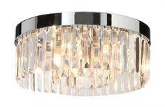 CRYSTAL - stropné krištáľové svietidlo do kúpeľne - ø 345mm