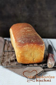 Chleb tostowy Bread Bar, Bread Toast, Polish Recipes, Croissants, Bread Baking, Baked Goods, Banana Bread, Muffins, Rolls
