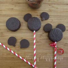 Super simple snack cake Mickey Mouse.