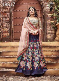 Traditional Wedding Ethnic Indian Pakistani wear Lehenga Bollywood Bridal Choli #Tanishifashion