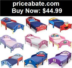 Kids-Furniture: NEW- CHILDREN KIDS BOYS GIRLS TODDLER BED (w opt CANOPY) - DISNEY CHAR. - BUY IT NOW ONLY $44.99