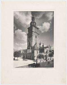 Tour de l'Hôtel de ville de Cracovie avant la destruction de la partie basse.