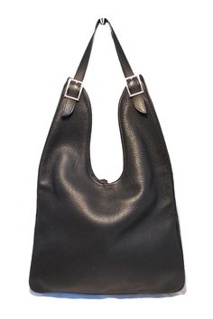 Hermes: Hermes Massai Black Clemence Large Shoulder Bag-mint | MALLERIES