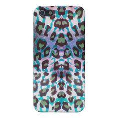 Teal Leopard Safari Print Case For iPhone 5