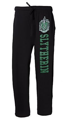 Harry Potter Officially Licensed NWT Slytherin Crest Men's Pajama Lounge Pants in Clothing, Shoes & Accessories Slytherin Harry Potter, Harry Potter Style, Harry Potter Aesthetic, Harry Potter Outfits, Slytherin Pride, Slytherin Clothes, Mens Lounge Pants, Mens Sleepwear, Loungewear