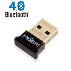 Mediastic USB Bluetooth Adapter - Latest V4.0 Premium Mini Dongle - Class 2 Smart Ready - High Speed 3mbps Micro Wireless Receiver - Long Range Transmitter - Low Power - Compatible with Windows 8 / Windows 7 (32 and 64bit) / Me / 2000 / 98 / Vista / XP For Computer, Laptop, Cell Phones, Pda, Printer, Headphone, Audio, iPhone, iPod - Supports Voice Data - Includes CSR Harmony CD Software. Mediastic http://www.amazon.com/dp/B00GMFYM8I/ref=cm_sw_r_pi_dp_LnPCvb02MTDM5