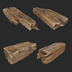 Some splintered wood to show off the broken wood.