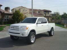 Toyota Tundra Double Cab White Lifted First Gen
