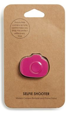 Cool 'Selfie Shooter' Wireless Smartphone Camera Remote http://rstyle.me/n/ts2p6bh9c7