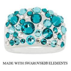 649d9e5e7 Prsteň Bubble s kryštálmi Swarovski Elements Blue Zircon Divine Jewellery  eshop