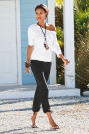 Drawstring crop pant~ love the whole outfit