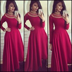 Best Looking Maroon Frenc Crep Amrela Tyep Semi Stitched Long Gown Pakistani Outfits, Indian Outfits, Indian Clothes, Indowestern Gowns, Party Kleidung, Ethnic Gown, Anarkali Dress, Long Anarkali, Anarkali Suits