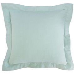 Elisabeth York Hemstitch Natural Pillow (265 ILS) ❤ liked on Polyvore featuring home, home decor, throw pillows, seaglass and plush throw pillows