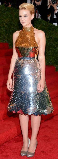 Carey Mulligan in Prada at the Met Gala 2012
