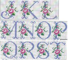 23 Trendy Ideas For Embroidery Patterns Alphabet Watches Cross Stitch Alphabet Patterns, Cross Stitch Letters, Cross Stitch Love, Cross Stitch Borders, Cross Stitch Flowers, Cross Stitching, Cross Stitch Embroidery, Seed Bead Patterns, Beading Patterns