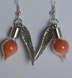 Orange Fairy Dust Vial Earrings £5.00