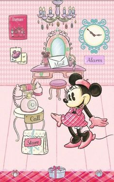 Image about pink in mickey & minnie mouse💖 by A♡ LOVE LIVE Mickey Mouse Wallpaper, Wallpaper Iphone Disney, Cute Disney Wallpaper, Mickey Mouse And Friends, Mickey Minnie Mouse, Disney Images, Disney Pictures, Disney Love, Disney Art