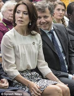 Proud: The Australian-born Princess, 44, cheered on her husband following his speech and t...