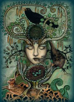 The Lady of the Greening Giclee print by WildSpiritWeaver