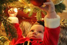 Santa baby christmas photography Christmas Baby, Christmas Ornaments, Christmas Photography, Santa Baby, Holiday Decor, Christmas Ornament, Christmas Topiary, Christmas Decorations