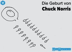Die Geburt von Chuck Norris - Lustige Chuck Norris Witze - Spermium