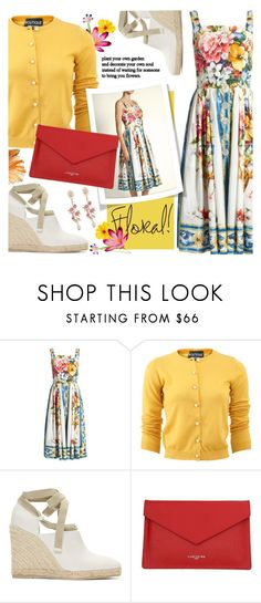 """""""Summer Floral"""" by brendariley-1 ❤ liked on Polyvore featuring Dolce&Gabbana, Boutique Moschino, Loewe, Lancaster, WithChic, floral, dress and dolcegabbana"""