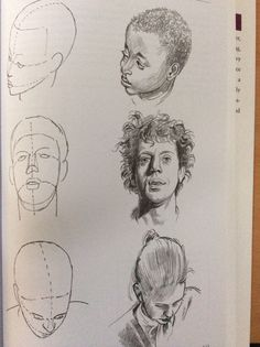 Portrait drawing underdrawing