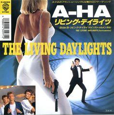 A-Ha  - The Living Daylights  - The Living Daylights (instrumental)    Label: Warner Records  Japan, 1987