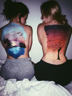 Ideas Body Art Back Painting Photography For 2019 Leg Painting, Summer Painting, Body Painting Girls, Photographie Art Corps, Animals Tattoo, Ukulele Art, Skin Paint, 3d Art, The Last Summer