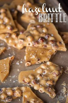 Candy Recipes, Sweet Recipes, Baking Recipes, Snack Recipes, Dessert Recipes, Snacks, Hazelnut Recipes, Brittle Recipes, Candied Almonds