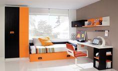 Resultado de imagen para mueble en negro y naranja