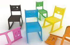 Happy chair de estudio Triángulo ... creando emoticonos por solo 200 €