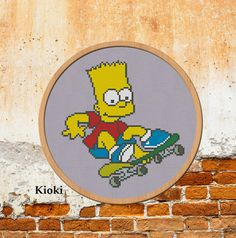 Cross stitch pattern Bart Simpson Instant Download PDF