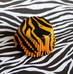 Orange Tiger Zebra Stripes Cupcake Liners (50)