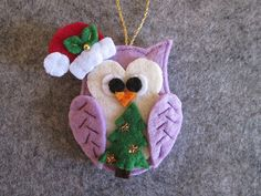 Felt Christmas ornament Felt Owl ornament by TinyFeltHeart on Etsy